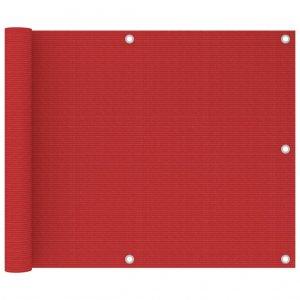 Διαχωριστικό Βεράντας Κόκκινο 75 x 600 εκ. από HDPE