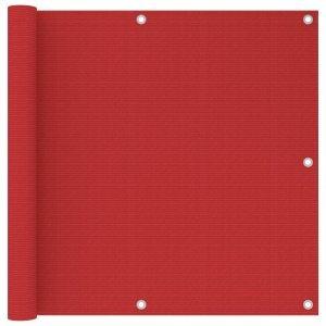 Διαχωριστικό Βεράντας Κόκκινο 90 x 300 εκ. από HDPE