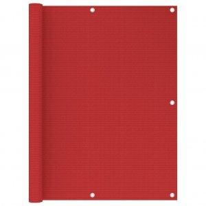 Διαχωριστικό Βεράντας Κόκκινο 120 x 400 εκ. από HDPE