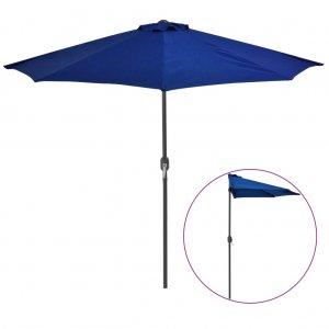 Ομπρέλα Βεράντας Ημικυκλική Μπλε 270x135x245 εκ. Ιστός Αλουμ.