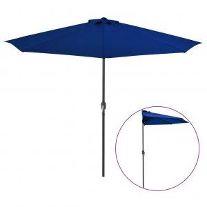 Ομπρέλα Βεράντας Ημικυκλική Μπλε 300x150x253 εκ. Ιστός Αλουμ.