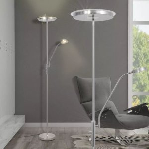 Φωτιστικό Δαπέδου LED 23 W με Dimmer με Επίπεδο Καπέλο