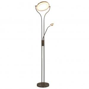Φωτιστικό Δαπέδου Ασημί 180 εκ. 18 W με Ρυθμιζόμενο Φωτισμό