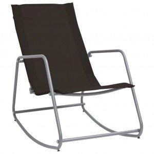 Καρέκλα Κουνιστή Κήπου Μαύρη 95 x 54 x 85 εκ. από Textilene