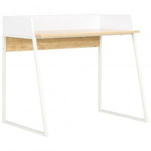 Γραφείο Λευκό / Χρώμα Δρυός 90 x 60 x 88 εκ.