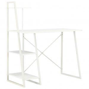 Γραφείο με Ράφια Λευκό 102 x 50 x 117 εκ.