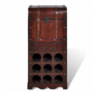 Ραφιέρα Κρασιών με Αποθηκευτικό Χώρο για 9 Μπουκάλ&i