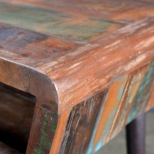 Γραφείο από ανακυκλωμένο ξύλο με σιδερένια πόδια