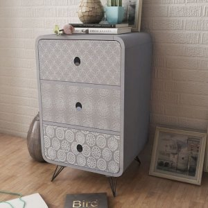 Συρταριέρα με 3 Συρτάρια Γκρι