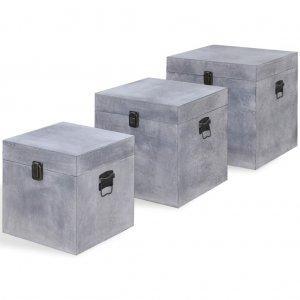 Κουτί Αποθήκευσης Τετράγωνο Σχέδιο Σκυροδέμα&tau