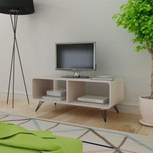 Έπιπλο τηλεόρασης γκρι ξύλινο 90 x 39 x 38,5 εκ