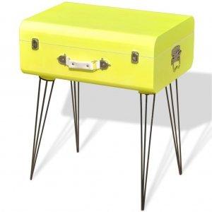 Βοηθητικό Τραπέζι Κίτρινο 49,5 x 36 x 60 εκ.