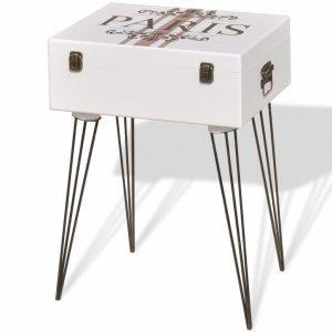 Βοηθητικό Τραπέζι Λευκό 40 x 30 x 57 εκ.