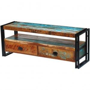 Έπιπλο τηλεόρασης από μασίφ ανακυκλωμένο ξύλο