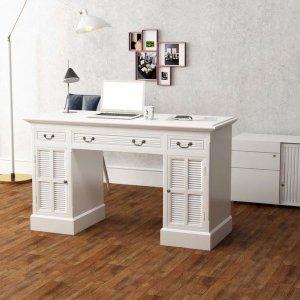 Γραφείο Δύο Όψεων Λευκό 140 x 48 x 80 εκ.
