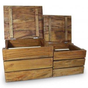 Σετ Κουτιά Αποθήκευσης 2 τεμ. από Μασίφ Ανακυκλωμέ