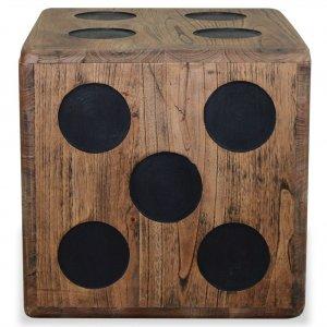 Κουτί Αποθήκευσης Σχέδιο Ζάρι 40 x 40 x 40 εκ. από Ξύλο Mindi