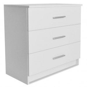 Συρταριέρα Λευκή 71 x 35 x 69 εκ. από Μοριοσανίδα