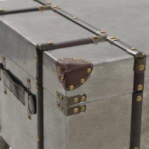 Τραπεζάκι Σαλονιού 102 x 51 x 47,5 εκ. από MDF και Αλουμίνιο