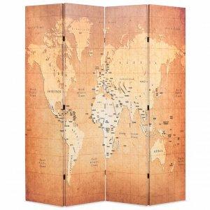 Διαχωριστικό Δωματίου Πτυσσόμενο Χάρτης Κίτρινο 160 x