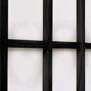 Παραβάν Ιαπωνικού Στιλ με 3 Πάνελ Πτυσσόμενο Μαύρο 120x170 &e