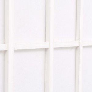 Παραβάν Ιαπωνικού Στιλ με 5 Πάνελ Πτυσσόμενο Λευκό 20