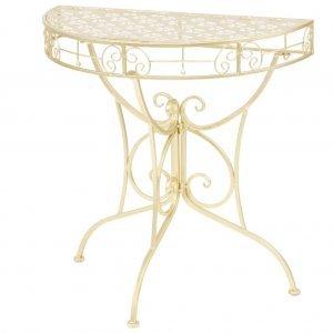Τραπέζι βοηθητικό ημικυκλικό vintage χρυσό 72x36x74 εκ μέταλλο