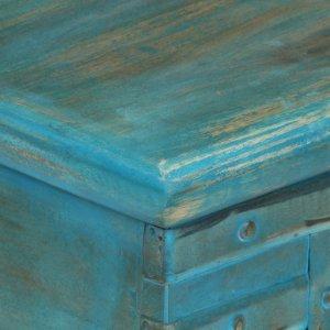 Μπαούλο Αποθήκευσης Μπλε 100x40x41 εκ. από Μασίφ Ξύλο Μάνγ&kappa