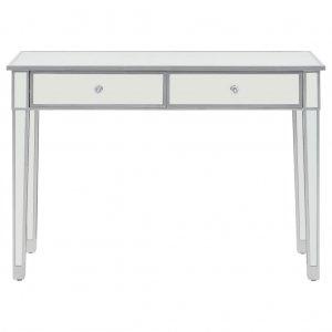Τραπέζι κονσόλα καθρέφτης 106,5 x 38 x 76,5 εκ από mdf & γυαλί