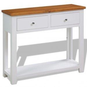 Τραπέζι κονσόλα 83 x 30 x 73 εκ από μασίφ ξύλο δρυός