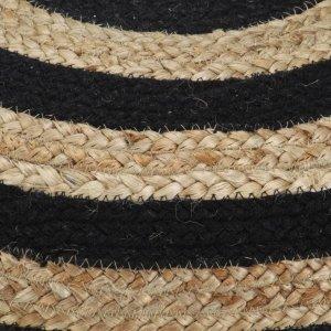 Πουφ Χειροποίητο Μαύρο 45 x 30 εκ. από Γιούτα
