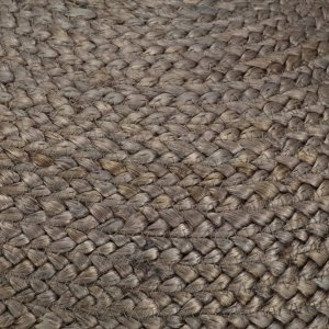 Πουφ Χειροποίητο Ανοιχτό Γκρι 45 x 30 εκ. από Γιούτα