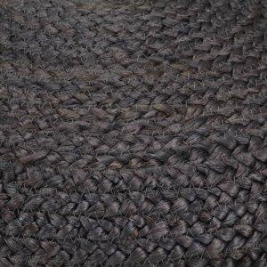 Πουφ Χειροποίητο Σκούρο Γκρι 45 x 30 εκ. από Γιούτα
