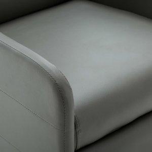 Πολυθρόνα Ανακλινόμενη Γκρι από Συνθετικό Δέρμα