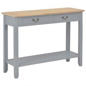 Τραπέζι κονσόλα γκρι 110 x 35 x 80 εκ ξύλινο