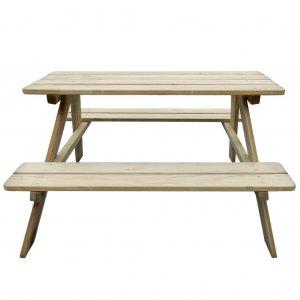 Τραπέζι Πικ-νικ Παιδικό 89 x 89,6 x 50,8 εκ. από Ξύλο Πεύκου | Echo Deco