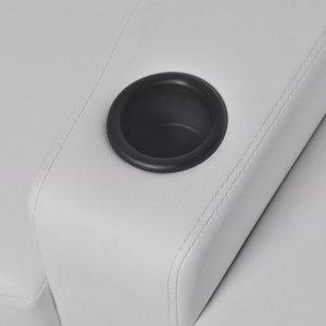 Καναπέδες 2+3 Θέσεων Ανακλινόμενοι LED 2 τεμ. Λευκοί Δ&epsi