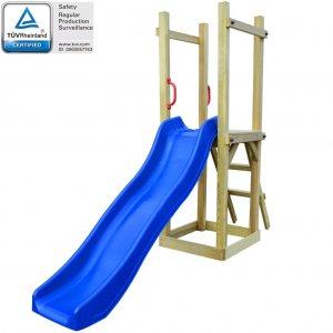 Παιδικό Σπιτάκι με Τσουλήθρα & Σκάλα 237x60x175 εκ. Ξύλο Πεύκου