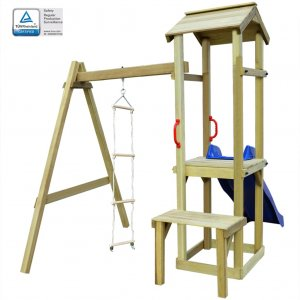 Παιδικό Σπιτάκι με Τσουλήθρα/Σκάλα 228 x 168 x 218 εκ. Ξύλινο