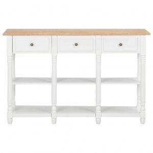 Τραπέζι κονσόλα λευκό 120 x 30 x 76 εκ από mdf