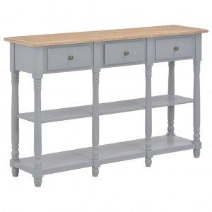Τραπέζι κονσόλα γκρι 120 x 30 x 76 εκ από mdf