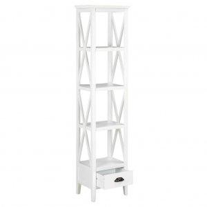 Βιβλιοθήκη με 1 Συρτάρι Λευκή 40 x 30 x 170 εκ. από MDF