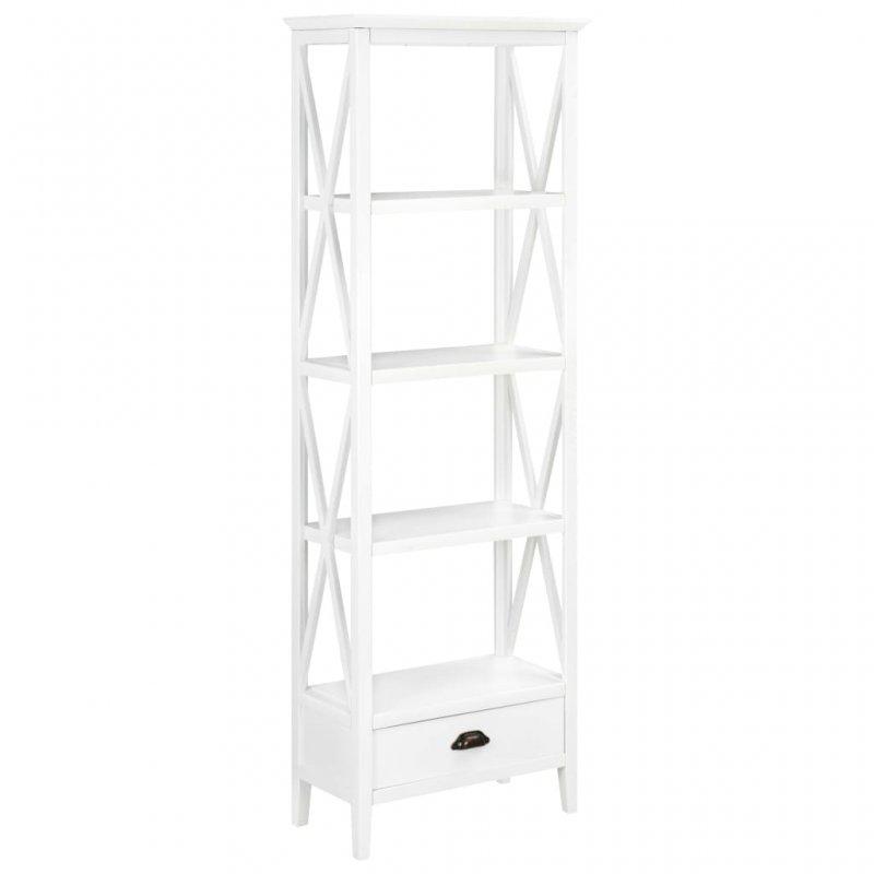 Βιβλιοθήκη με 1 Συρτάρι Λευκή 60 x 30 x 170 εκ. από MDF | Echo Deco