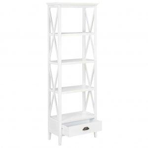 Βιβλιοθήκη με 1 Συρτάρι Λευκή 60 x 30 x 170 εκ. από MDF