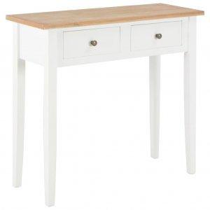 Τραπέζι κονσόλα λευκό 79 x 30 x 74 εκ ξύλινο