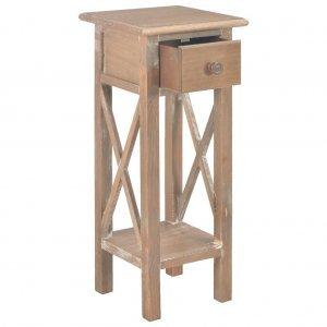 Τραπεζάκι βοηθητικό καφέ 27 x 27 x 65,5 εκ ξύλινο