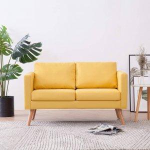 Καναπές Διθέσιος Κίτρινος Υφασμάτινος