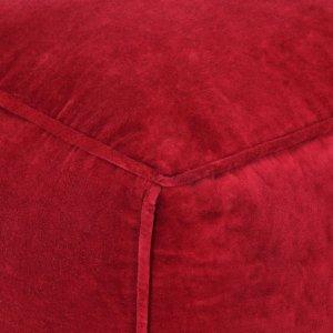 Πουφ Κόκκινο Ρουμπινί 40 x 40 x 40 εκ. από Βαμβακερό Βελούδ&omi