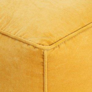 Πουφ Κίτρινο 40 x 40 x 40 εκ. από Βαμβακερό Βελούδο