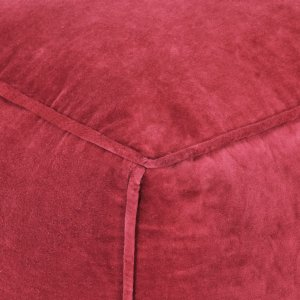 Πουφ Κόκκινο 40 x 40 x 40 εκ. από Βαμβακερό Βελούδο